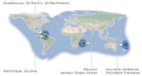 Distributeurs Weser en Outre-Mer