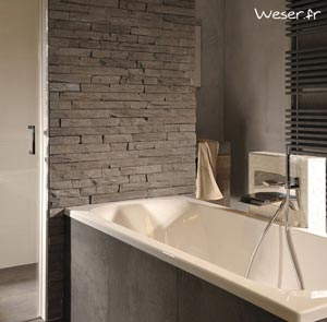 Parements muraux, Murok Strato gris terre - WESER