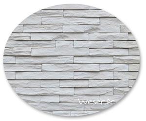 Zoom matière, Parement mural, Murok strato blanc crème -WESER
