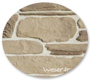 Zoom matière, Parement mural, Murok Sierra brun nuancé - WESER