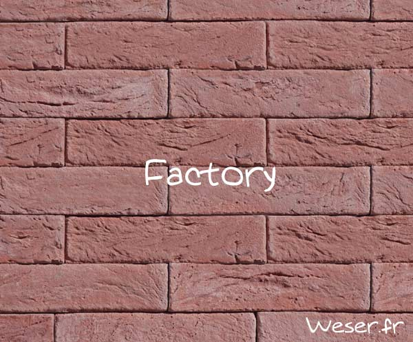 Parement Factory rouge de ryck by WESER