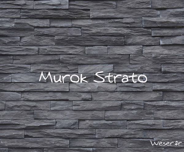 Parement Murok strato anthracite, De ryck By weser