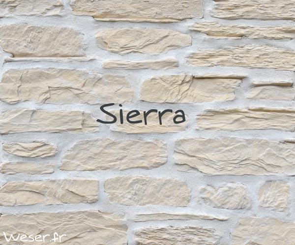 Habillage pierres murales, Sierra Blanc De Ryck by WESER